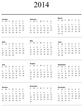 year long calendar on one page calendar template 2017