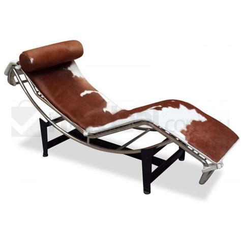 cowhide chaise lounge brown cowhide chaise lounge le corbusier replica buy
