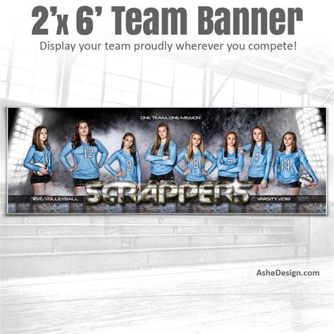 2x6 Amped Team Sports Banner Photoshop Templates Armor Ashedesign 2x6 Banner Template