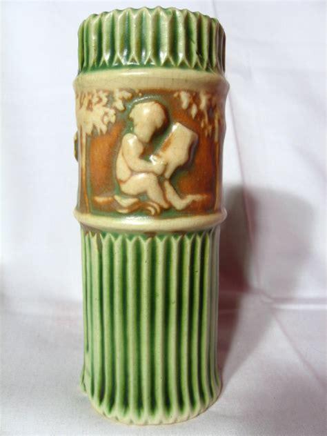 Roseville Donatello Vase roseville donatello 6 quot vase from prairiewindantiques on