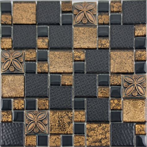 Purple Kitchen Backsplash black porcelain mosaic tile designs gold glass tiles