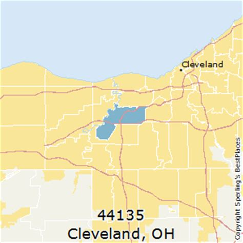 zip code map cleveland best places to live in cleveland zip 44135 ohio