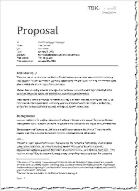 6 writing proposals procedure template sample