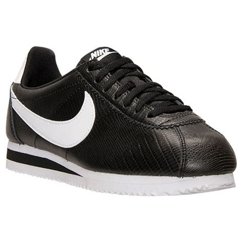 s nike cortez classic leather casual shoes black