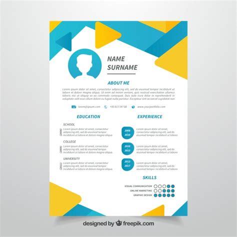 design foto gratis 12 desain template resume cv unik dan kreatif gratis