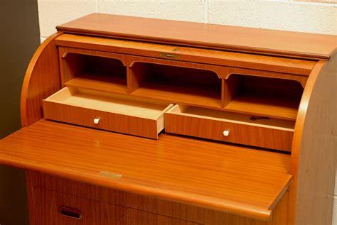 Modern Roll Top Desk Swedish Mid Century Modern Roll Top Teak Secretaire Desk At 1stdibs
