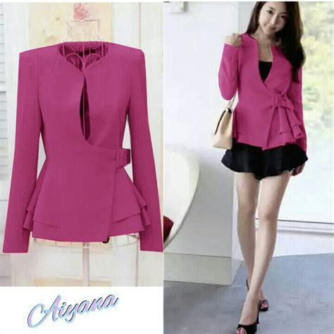 Jaket Modis Flash Jacket baju blazer fashion wanita korea cantik modern model