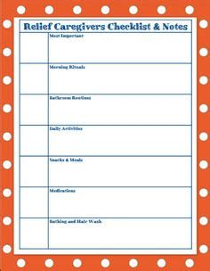 Daily Notes For Caregivers With Free Printable Forms For Daily Activities Blood Pressure Daily Caregiver Notes Template