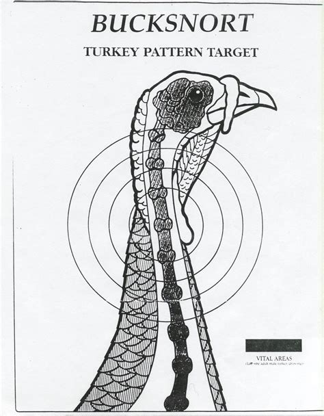 printable life size turkey head target downloadable turkey targets
