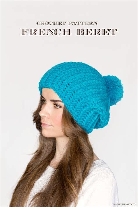 pattern crochet francais bistro babe french crochet beret allfreecrochet com