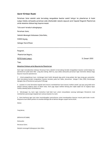 surat rasmi