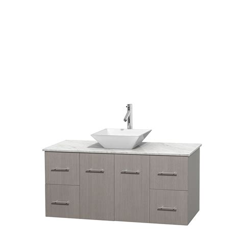 48 Inch Bathroom Vanity White Wyndham Collection Wcvw00948sgocmd2wmxx Centra 48 Inch Single Bathroom Vanity In Gray Oak White