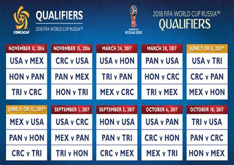 Calendario Hexagonal Concacaf 2017 Lista La Fase Hexagonal De Las Eliminatorias De Concacaf