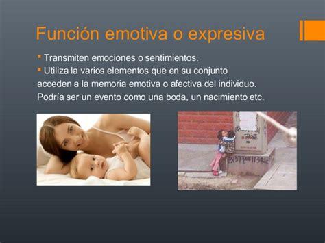 imagenes funcion emotiva o expresiva funciones de la imagen