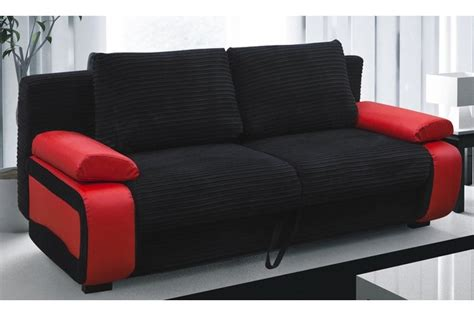 sofa red and black sofa beds victor fabric sofa bed red black