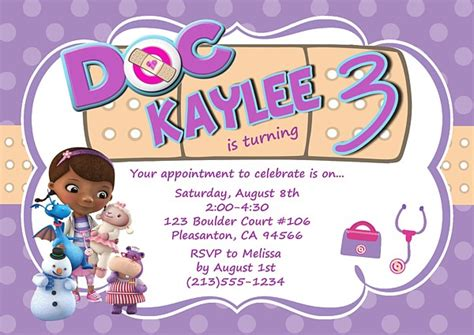 doc mcstuffins invitation template doc mcstuffins birthday invitations birthday