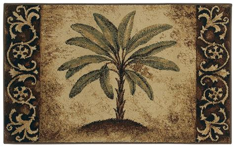 Palm Tree Area Rugs Shaw Beige 3x5 Tropical Palm Tree Scrolls Kitchen Area Rug