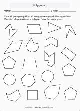 printable regular and irregular shapes name regular and irregular polygons count the sides and