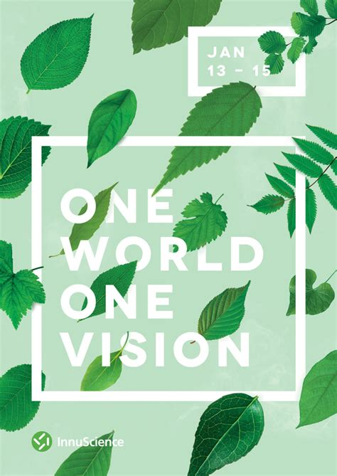 poster design nature one world one vision by ashwin kandan nature typography