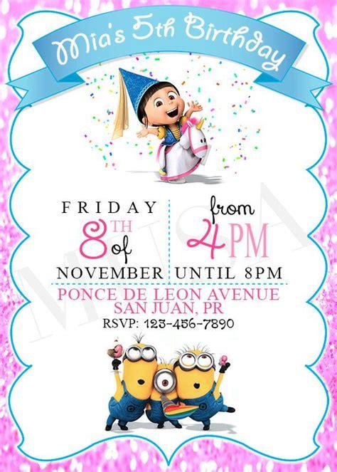Minion Birthday Invitations Templates Free Lijicinu 006b99f9eba6 Despicable Me Invitations Templates