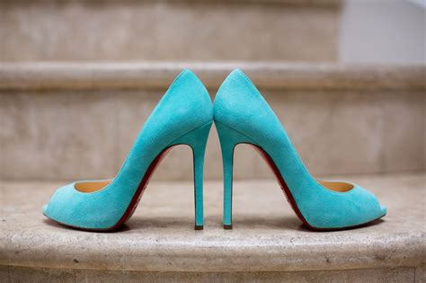 Turquoise Wedding Shoes by Turquoise Blue Christian Louboutin Bridal Shoes
