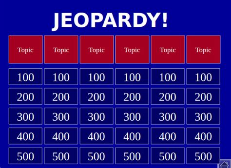 10 Jeopardy Powerpoint Templates Free Sle Exle Jeopardy For Smartboard