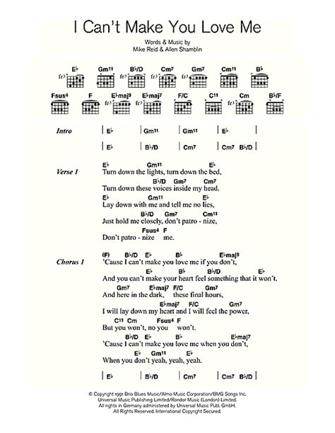 can t make you love me chords adele i can t make you love me sheet music by adele lyrics