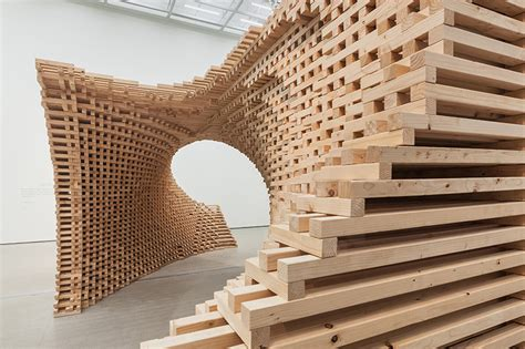 january 2014 style arch hg architecture morphs wooden modules into pixelated