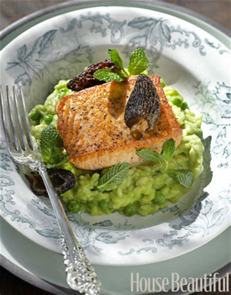 salmon and risotto salmon and pea risotto recipe tyler florence salmon and