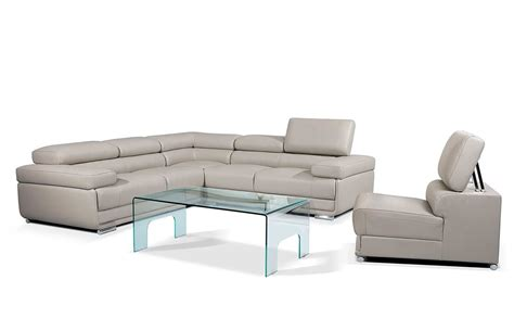 gray leather sectional modern gray leather sectional sofa ef119 leather sectionals
