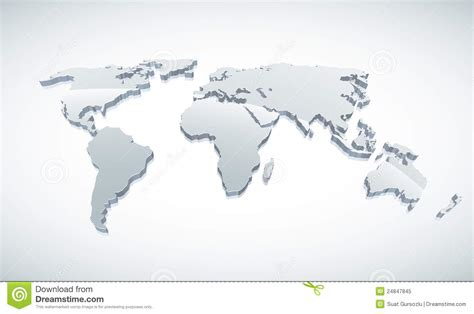free stock images us map 3d world map royalty free stock photo image 24847845