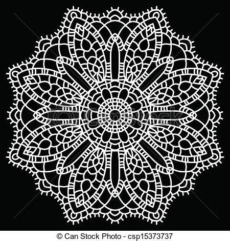 crochet pattern drawing crochet lace mandala royalty free vector eps csp15373737