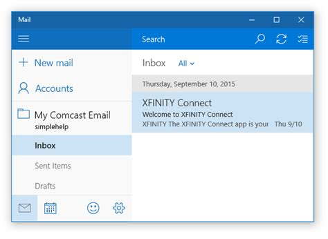 Comcast Email Address Lookup How To Setup Comcast Email In Windows 10 Simple Help