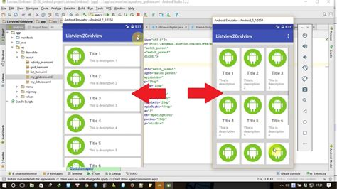 tutorial android gridview android tutorial switching between listview and gridview
