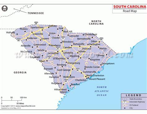 carolina south carolina map buy south carolina road map
