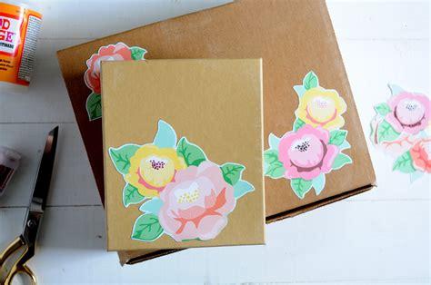 diy mod podge gifts floral embellished diy gift box mod podge rocks