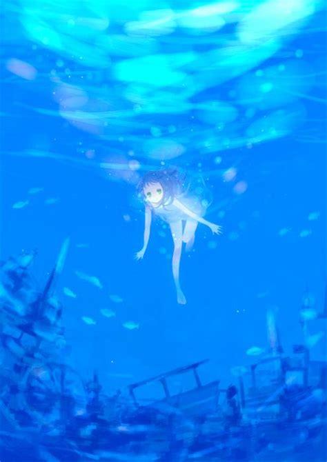 anime underwater b e a u t i f u l anime beautiful swim