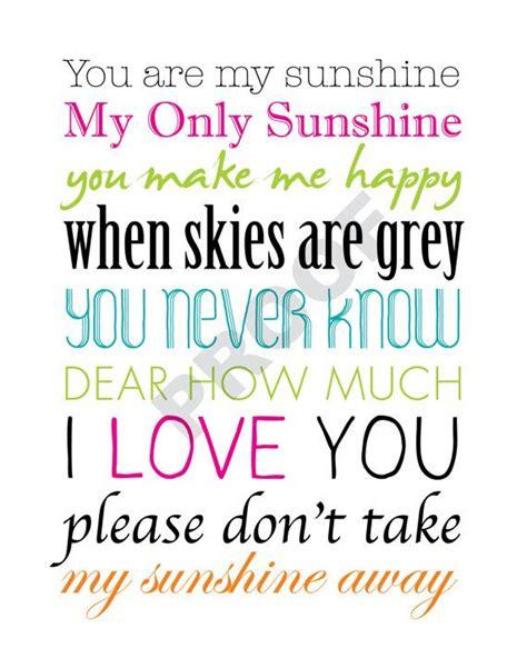 printable lyrics you are my sunshine printable quot you are my sunshine quot lyrics artwork colorful