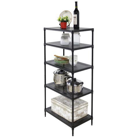 24x14x48 steel shelf storage adjustable 5 tier wire