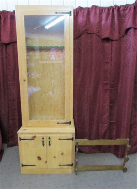 lot detail custom made wood gun cabinet