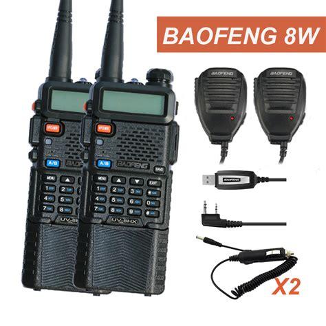 walkie talkie 10 km set baofeng radio headset uv 8hx walky talky 50km baofeng uv 5r uv 5r 8w uv