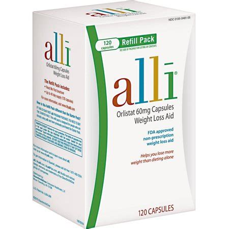 alli fda approved weight loss aid orlistat capsules 60mg