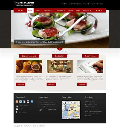 restaurant website layout design 30 best wordpress restaurant themes 2017 smashthemes