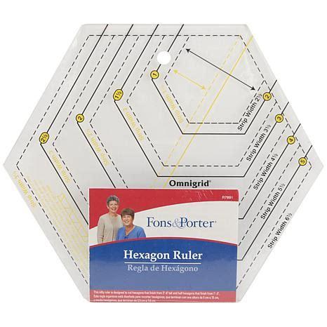 hexagon ruler templates fons and porter hexagon ruler 6802600 hsn