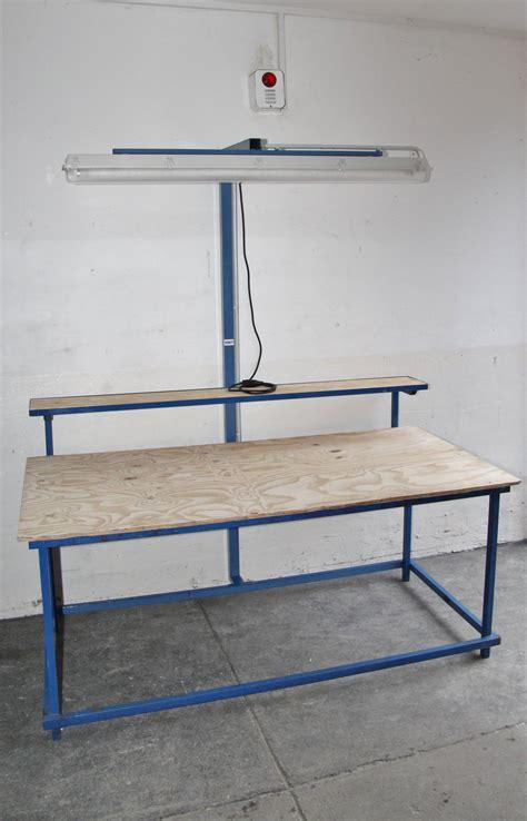beleuchtung werkbank arbeitstisch mit beleuchtung packtisch montagetisch