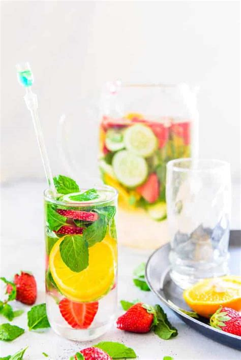 Detox Water With Only Strawberries by Strawberry Cucumber Detox Water Recipe To Make At Home