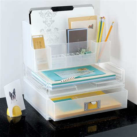 Container Store Desk Organizer Like It 174 Landscape Letter Tray The Container Store