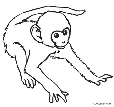 coloring pages of baby monkeys free printable monkey coloring pages for kids cool2bkids