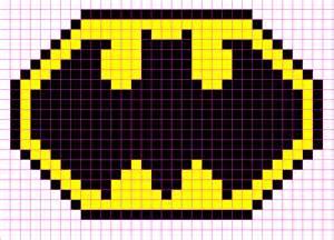Minecraft Pixel Templates Batman by Batman Logo Minecraft Pixel Template Minecraft Pixel