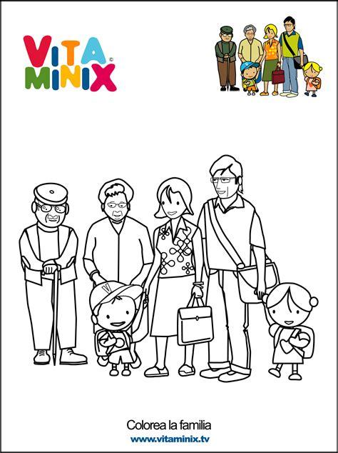 imagenes de la familia escolar para colorear recursos para el aula trabajamos la familia